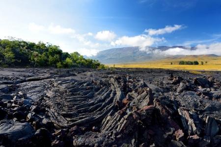 Rough surface of frozen lava