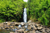 Beautiful view of waterfall on Maui island