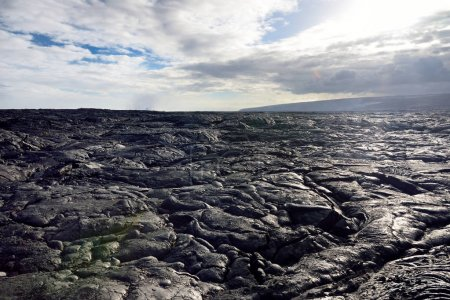 Scenic view of endless lava fields of Big Island of Hawaii