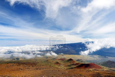 Panoramic view of Mauna Loa volcano on Big Island of Hawaii