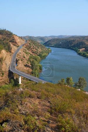 The Lower Guadiana International Bridge on the boundary between