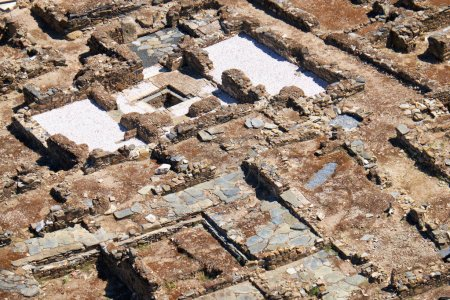 Excavations of the Roman acropolis - the monument set of ancient