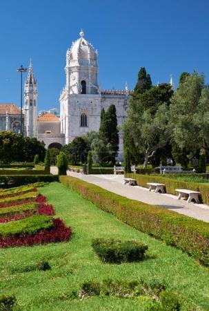 The view of Church of Santa Maria through the garden of Empire s