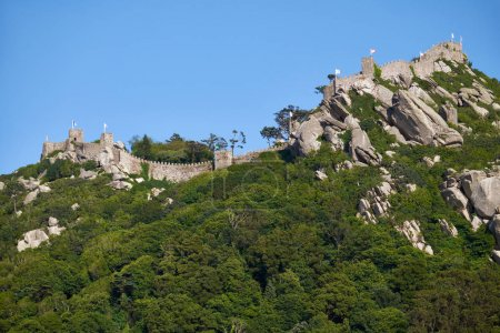 Castle of the Moors, perched on top of the inaccessiblemountains