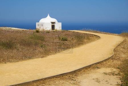 Path near Ermida da Memoria or Memory Chapel of Nossa Senhora do