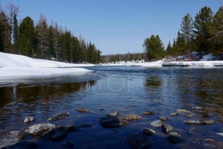 Spring landscape in Siberia