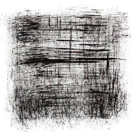 Photo pour Fond Abstrait noir - dessin à l'encre - image libre de droit