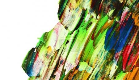 Foto de Pinceladas de colores. Fondo abstracto con borde aislado - Imagen libre de derechos