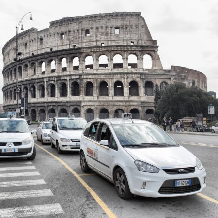 Taxi cars in Rome