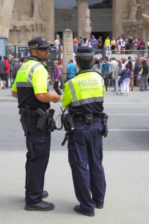 Police patrol in Barcelona