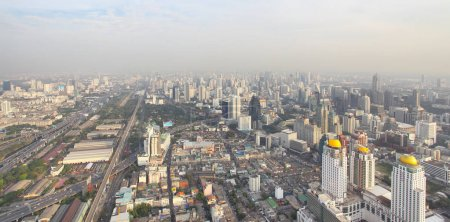 Panoramic view of Bangkok city