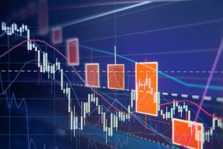 Photo pour Marché boursier obligataire - Stock graphiques et diagrammes - financiers et d'affaires fond - image libre de droit
