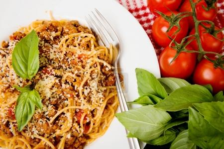 Delicious pasta with meat