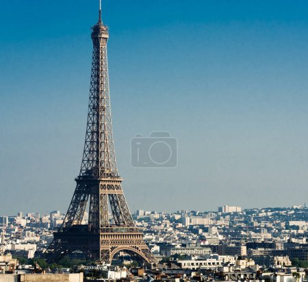 Photo for Eiffel tower during sunset in Paris, France - Royalty Free Image