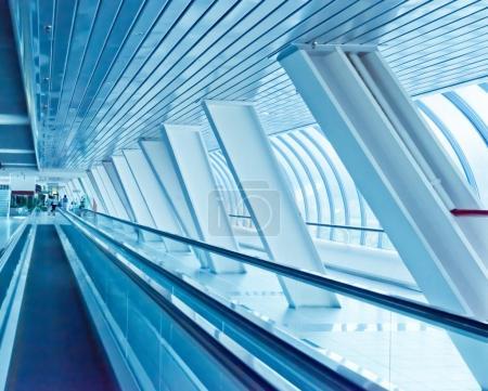 Long corridor with columns