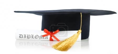 Graduation Cap with Degree
