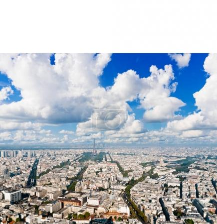 Paris cityscape from Montparnasse tower