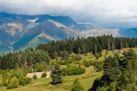 Scenic caucasus mountain landscape in Georgia