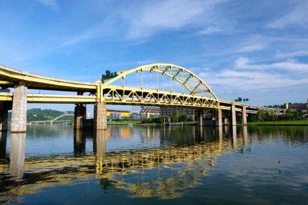 Bridge in Pittsburgh in sunlight