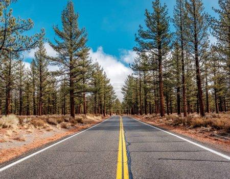Open highway in California