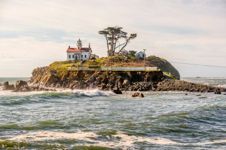 Photo for Battery Point Lighthouse at Pacific coast, California, USA - Royalty Free Image