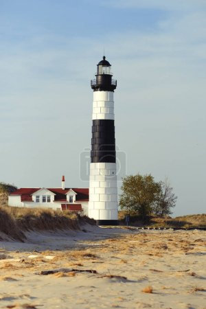 Big Sable Point Lighthouse in dunes