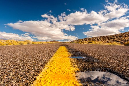 Photo for Forced perspective of open highway in California, USA - Royalty Free Image