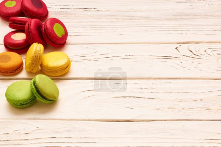 French delicious macaroons