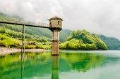 Lungern lake in Switzerland
