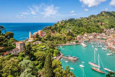Portofino village on Ligurian coast