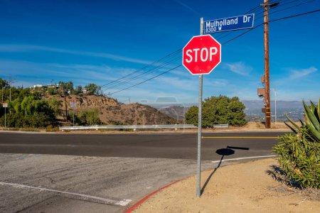 Mulholland Highway sign