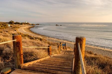 Photo pour Paysage de côte Pacifique des USA, promenade à Leo Carrillo State Beach, Malibu, Californie. - image libre de droit
