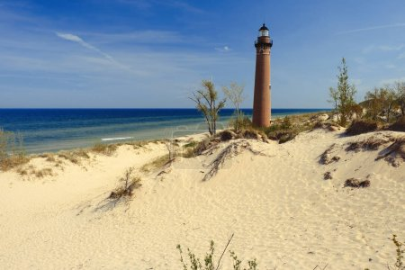 Little Sable Point Lighthouse in dunes