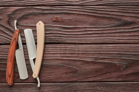 Vintage barber shop straight razor tool