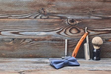 Vintage barber shop tools