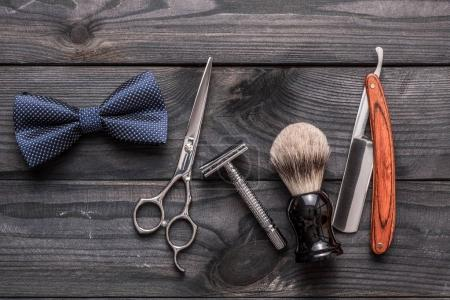 Vintage barber shop tools