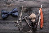 Vintage barber shop eszközök