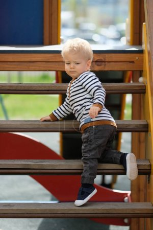 baby boy at playground