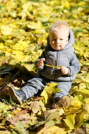 Toddler child in warm jacket