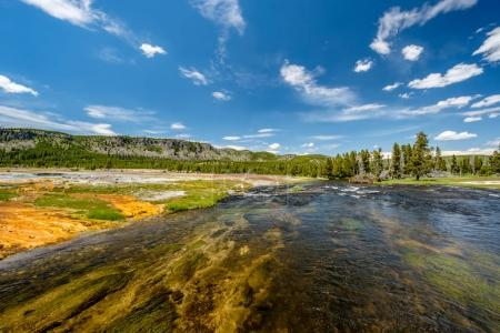 Firehole River in Yellowstone National Park, Biscuit Basi