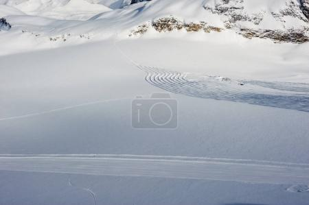 Alpine winter snowy mountain landscape. Val-d'Isere, France