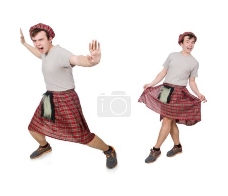Funny scotsman isolated on white...