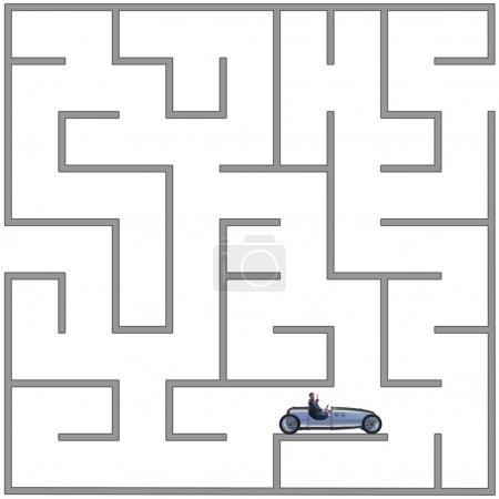 Photo for Business people trying to escape from maze labyrinth - Royalty Free Image