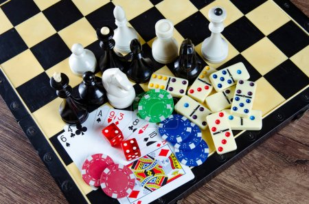 Photo for Chess and other gaming accessories - Royalty Free Image
