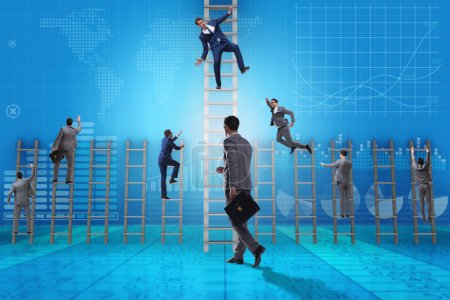 Photo for Competition concept with businessman beating competitors - Royalty Free Image