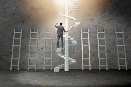 Photo for Career progression concept with ladders and staircase - Royalty Free Image