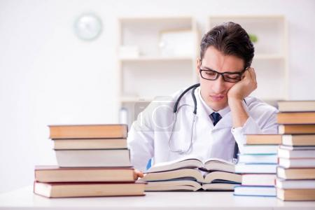 Photo for Medical student preparing for university exams - Royalty Free Image
