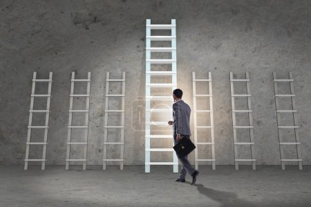 Photo for Career progression concept with various ladders - Royalty Free Image