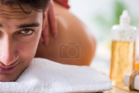Photo for Man in spa enjoying his time - Royalty Free Image