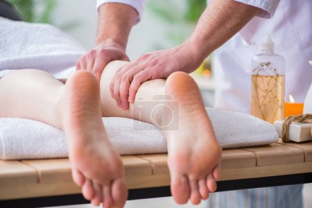 Photo for Foot massage in medical spa - Royalty Free Image